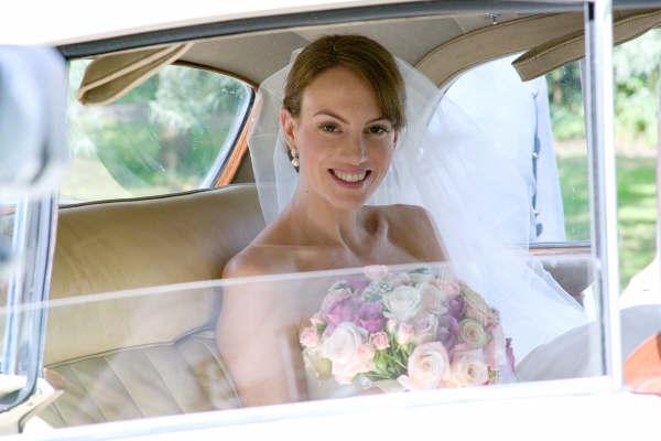 Bride with Wedding Hair & Makeup by Maidenhead Berkshire Make-up Artist Anabela