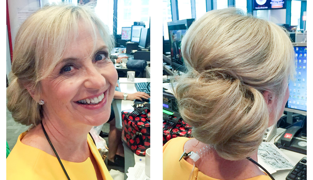 TV Programmes Hair & Makeup for BBC Weather Presenter Carol Kirkwood at Television Studio