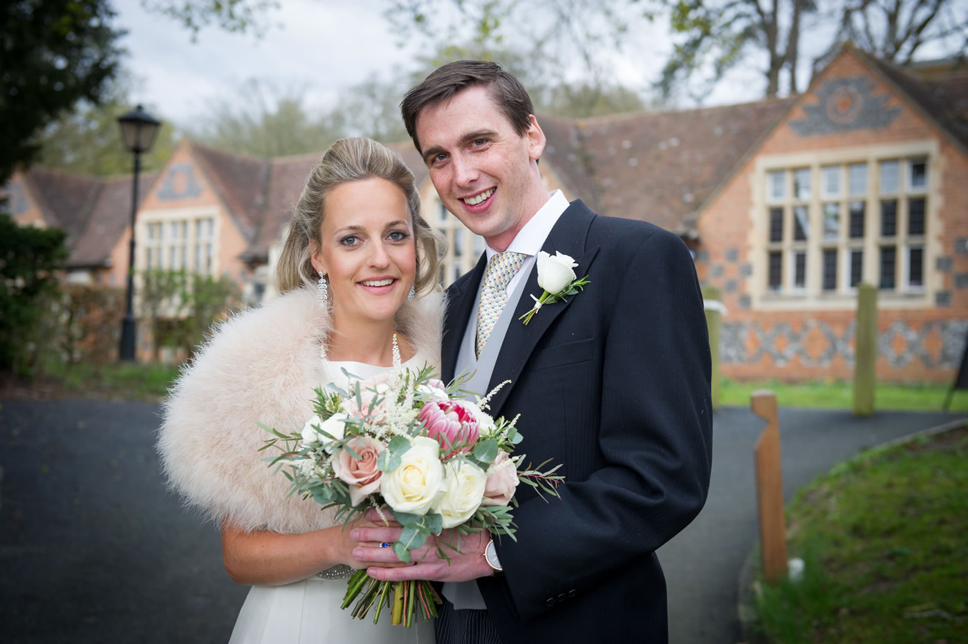 Weddings at Bradfield College Berkshire - Bride & Groom - Bridal Hair & Makeup