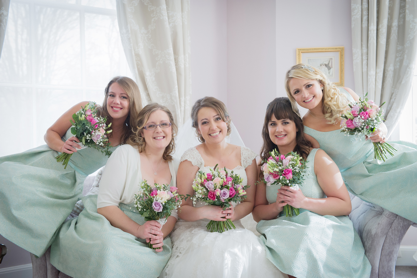 Wedding at Burnham Beeches, Buckinghamshire - Bride & Bridesmaids - Bridal Hair & Makeup