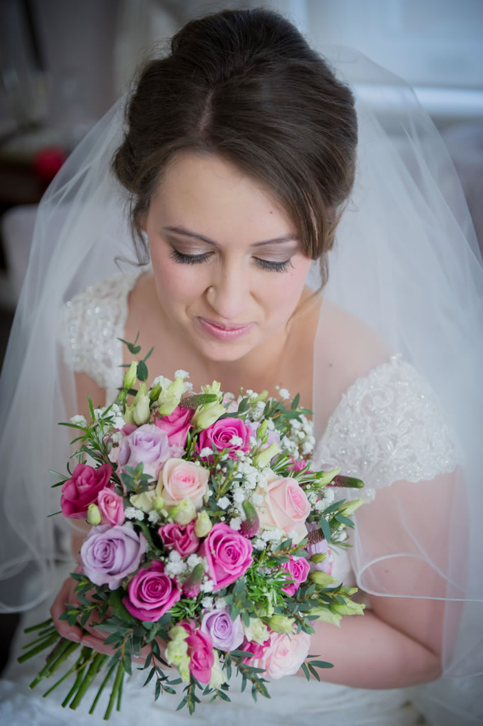 Bride at Burnham Beeches Hotel Buckinghamshire for Wedding Hair & Make-up by Anabela of Maidenhead - Burnham near Slough Bucks
