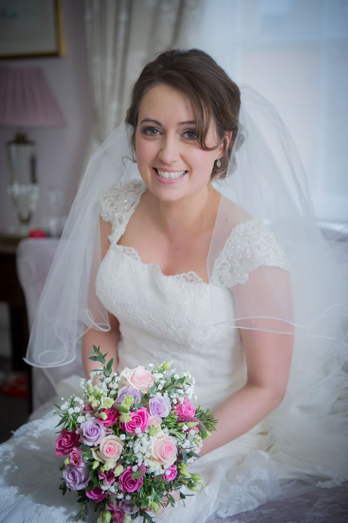 Bride at Burnham Beeches Hotel Slough Buckinghamshire Wedding - Hair & Makeup by Anabela of Maidenhead