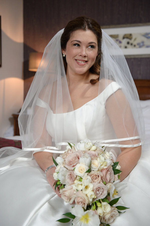 Bride at Sir Christopher Wren Windsor Berkshire Wedding - Hair & Makeup by Anabela of Maidenhead